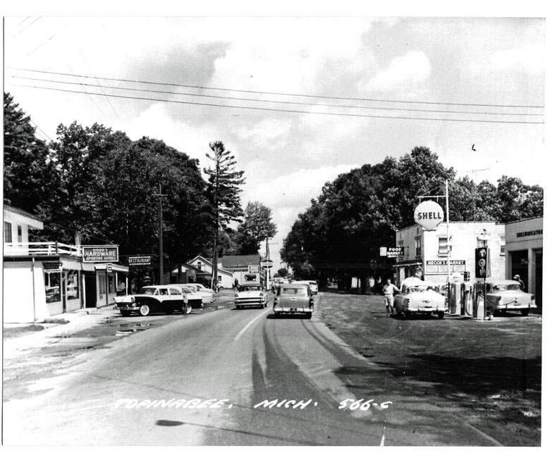 Main Street in the 1950's
