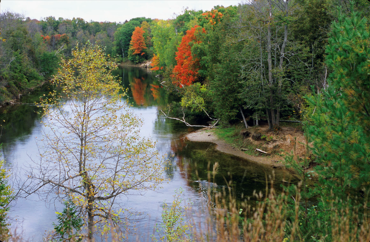 The Au Sable is Beautiful in the Fall
