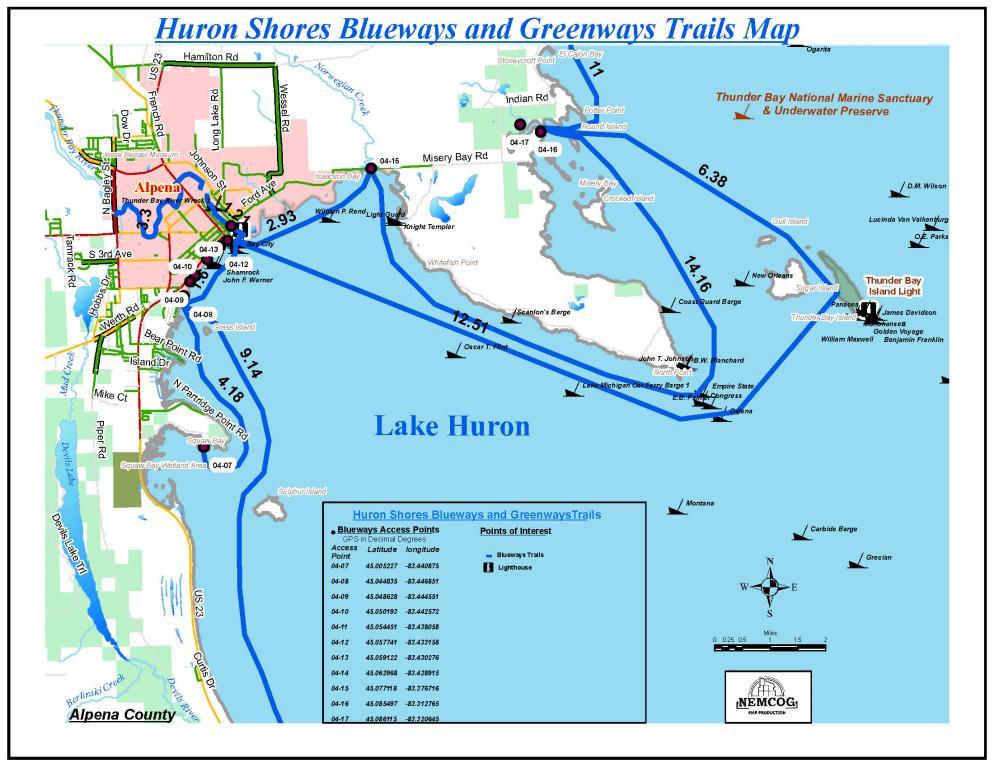 Alpena Blueway Michigan Water Trails
