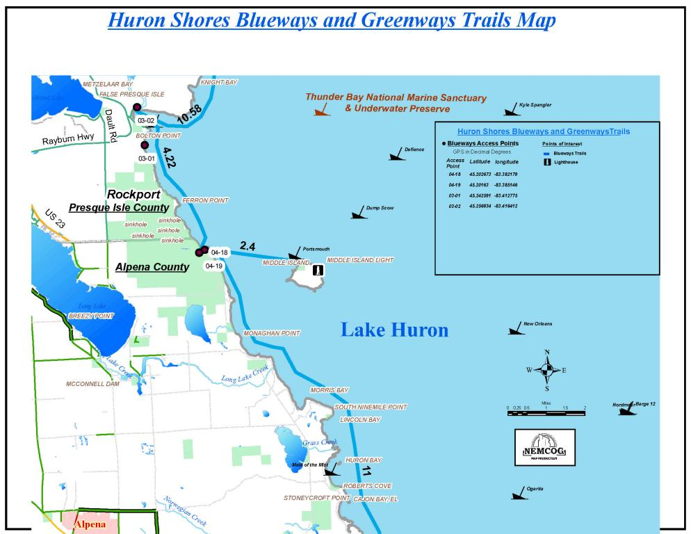 Alpena Blueway Michigan Water Trails: Rockport State Park Map At Codeve.org