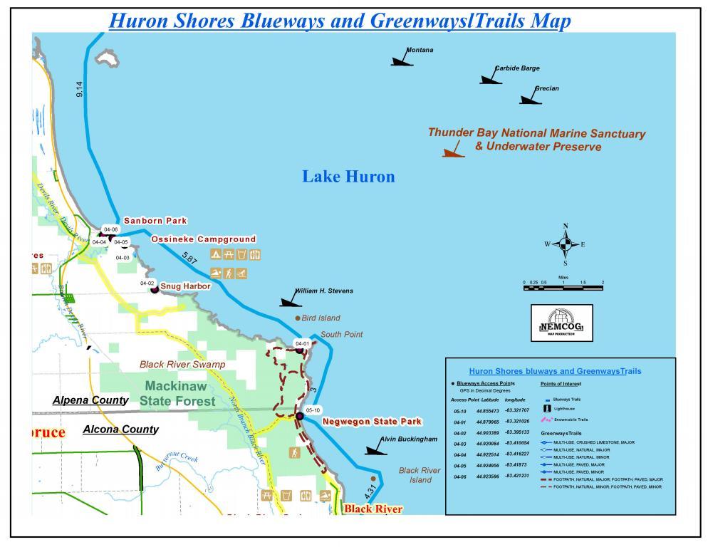 Negwegon Black River Ossineke Blueway Michigan Water Trails