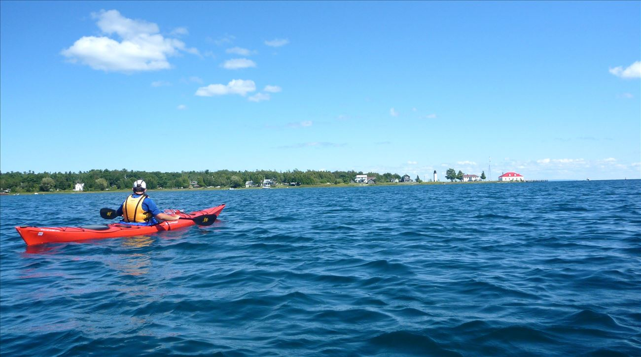 Kayaking Around Beaver Island