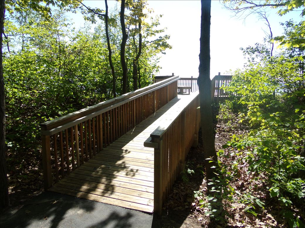 Middle Village Park viewing deck