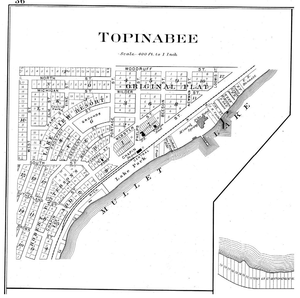 1892 plat of Topinabee